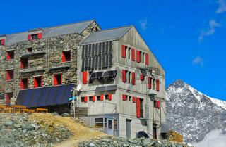 Britiannia-Hütte, Saas-Fee, Wallis, Schweiz