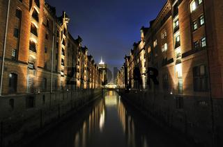 Die Speicherstadt in Hamburg