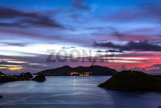 Islands of the Staints after sunset