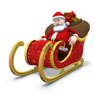 santa sitting in his sleigh