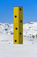 Look-out Las Colonnas, Bivio, Julier Pass, Graubunden, Grisons, Switzerland