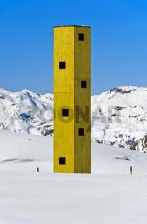 Aussichtsturm Las Colonnas, Bivio, Julierpass, Graubünden, Schweiz