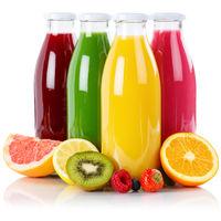 Saft Smoothie Smoothies Flasche Fruchtsaft Frucht Quadrat Früchte isoliert freigestellt Freisteller