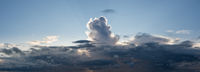 High definition panoramic cloudscape of storm