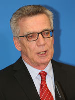 Federal Minister of the Interior, Thomas de Maizière (CDU), at the Center of Excellence, Magdeburg