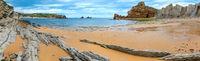Arnia Beach coastline panorama.