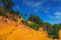 Unique red and orange hills