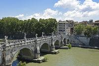 Ponte Sant Angelo, bridge, Tiber River, Rome, Italy, Europe