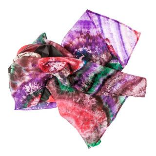 crumpled pink batik headscarf isolated