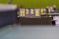 Scoreboard of the score during a table tennis tournament.