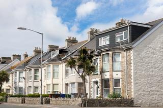 Row of beautiful terraced english houses