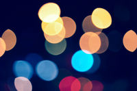 Colorful abstract bokeh lights xmas christmas decoration