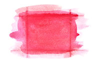 Rectangle red watercolor frame