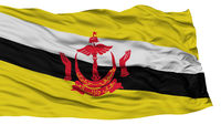 Isolated Bandar Seri Begawan City Flag