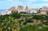 Typical spanish coastal urbanization of La Mata town. La Mata is a small town located 5 km northeast of Torrevieja along the Costa Blanca