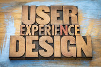 user experience design word abstract