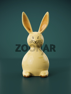 sweet easter bunny figure