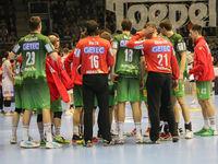 handball team SC Magdeburg at time out