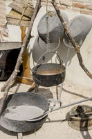 kitchen tools and utensils of medieval agriculture, ancient European farming instruments
