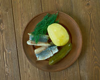 plate of assorted herring