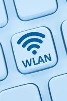 WLAN oder WiFi Hotspot Verbindung online Internet Computer web