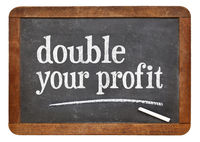 double your profit blackboard sign