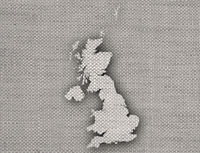 Karte von Großbritannien auf Leinen  - Map of Great Britain on linen