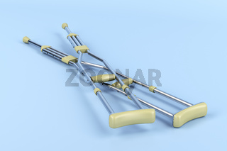 Pair of underarm crutches