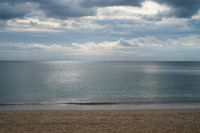 Dramatic tropical cloudy sky and sea background