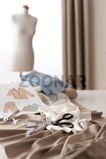 Fashion designer studio with professional equipment