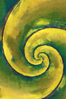 yellow and green abstract swirl