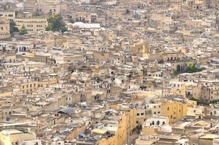 Häuser der Altstadt mit Satellitenschüsseln, Medina von Fes, Marokko, Afrika