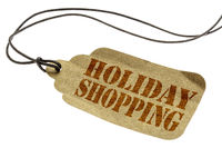 holiday shopping -  isolated price tag