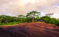 Chamarel natural park at sunset