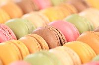 Macarons Macaroons bunte Kekse Nachtisch Dessert aus Frankreich