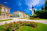 Town of Koprivnica old street and park  view