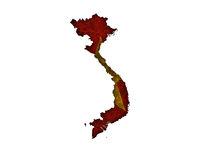Karte und Fahne von Vietnam auf  rostigem Metall - Map and flag of Vietnam on rusty metal