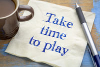 take time to play reminder on napkin