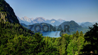 Landscape of Alpsee, Bayern, Germany