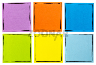 blank isolated sticky notes set