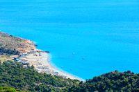 Adriatic summer coast (Albania).