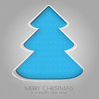 Paper Christmas tree blue