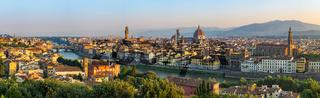 Florence panorama city skyline, Italy