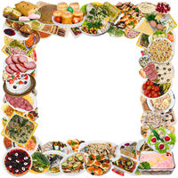 Rustic style food photo frame