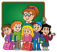 School class theme image 3 - picture illustration.