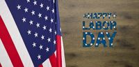 Happy Labor Day background with wood texture