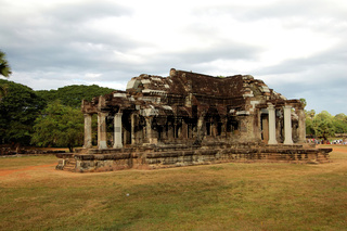 The library in the Angkor Wat