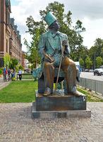 Statue of Hans Christian Andersen in Copenhagen