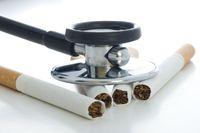 Stethoskop hört Zigaretten ab