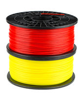 Red and yellow filament coils for 3d print